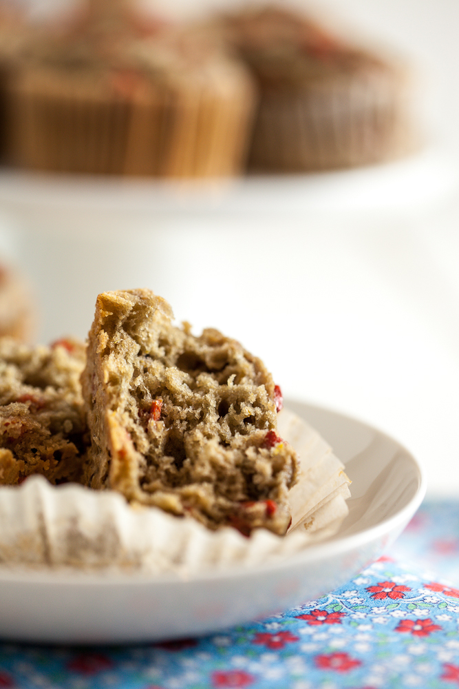 Goji Berry Blood Orange Muffins