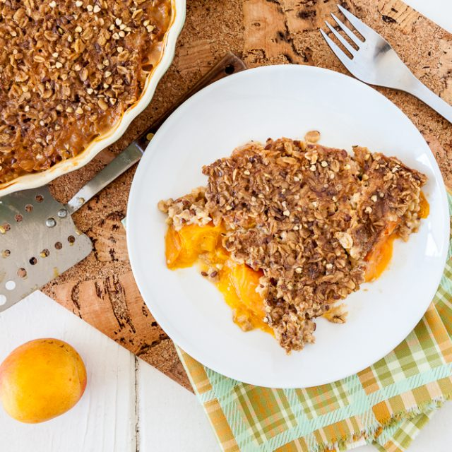 Baked Apricot Crumble Oatmeal