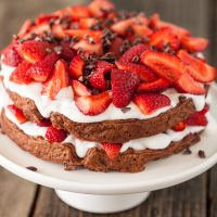 Chocolate Strawberry Shortcake Waffles