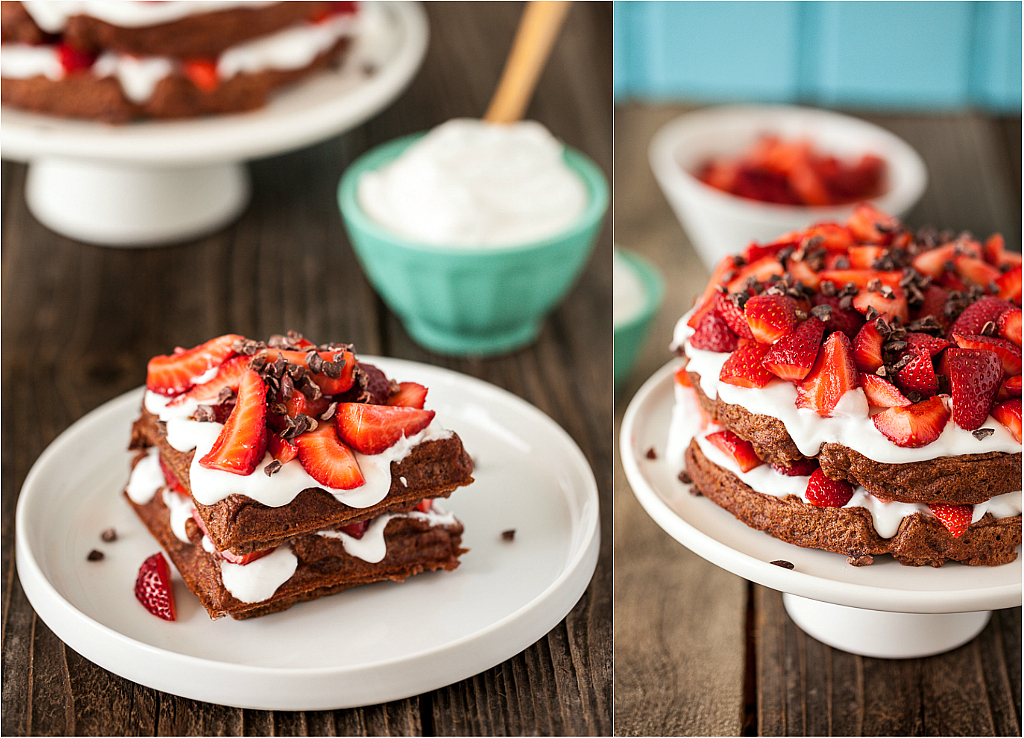 Chocolate Strawberry Shortcake Waffles & a NuNaturals Giveaway!