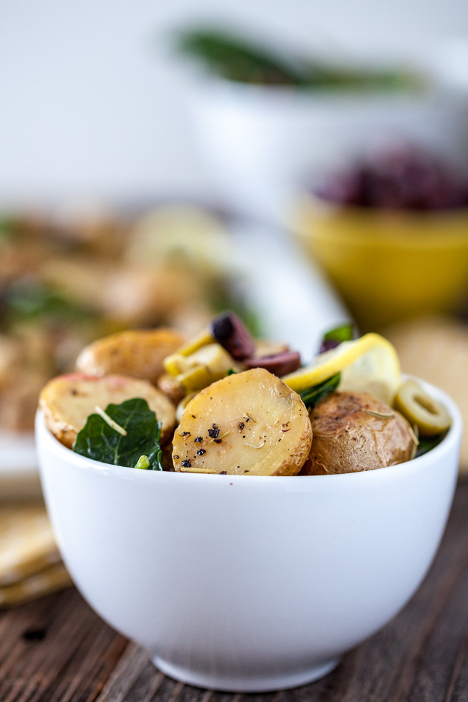 Warm Lemony Olive Potato Salad