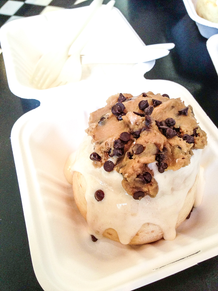Chocolate Chip Cookie Dough Cinnamon Roll