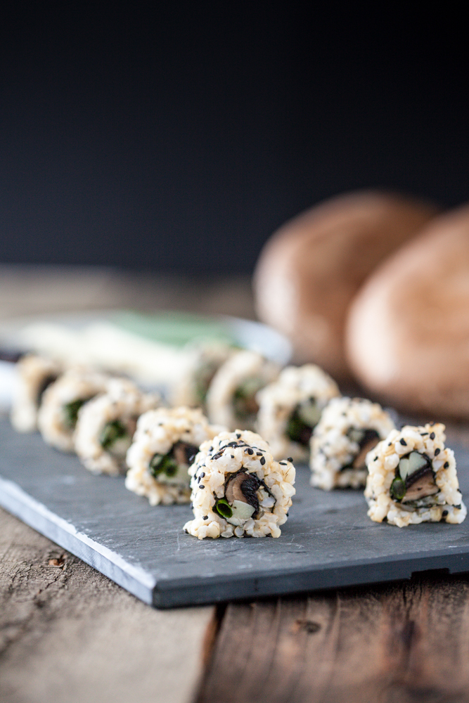 Smoky Roasted Portobello Sushi