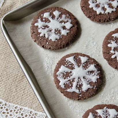 Courtney's Chocolate Cinnamon Snowflakes