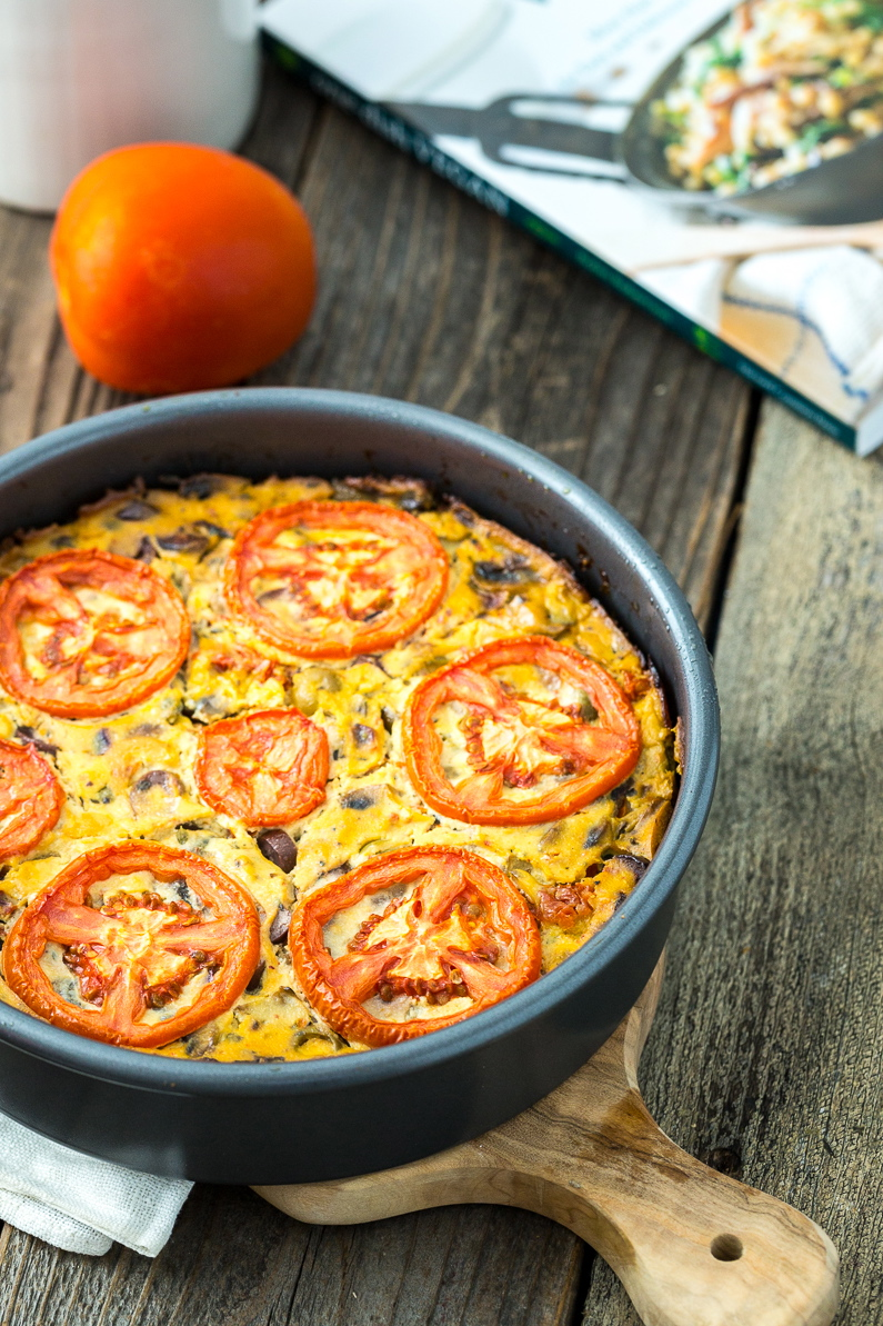 Frittata Puttanesca + One Dish Vegan: Review & GIVEAWAY!