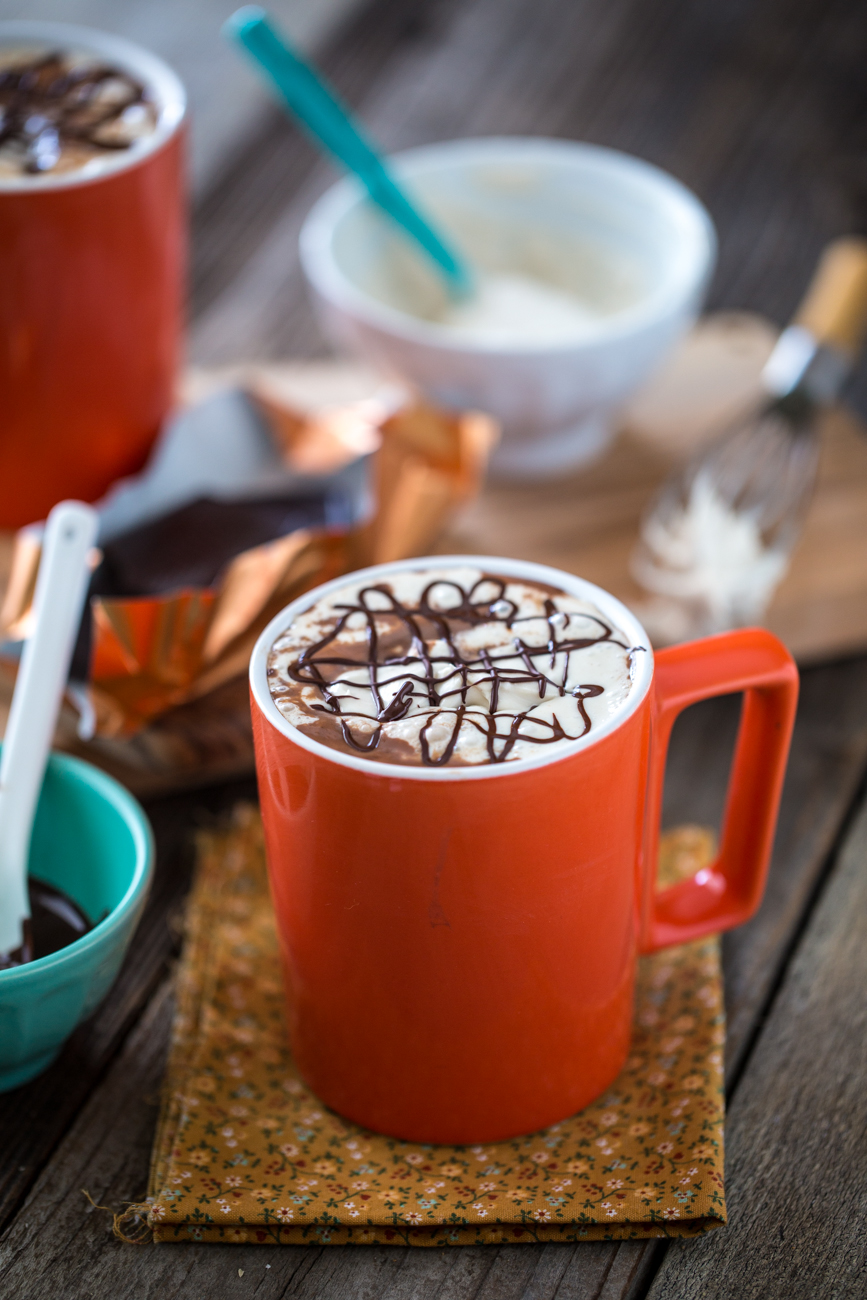 Protein-Rich Hot Chocolate with Peanut Butter Whipped Cream