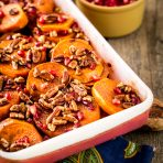 Pomegranate Orange Sweet Potato Bake