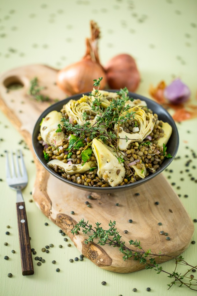 Artichoke and Lentil Salad