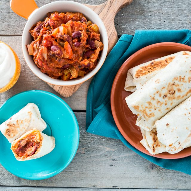 Mini Skillet-Grilled Chili Cheese Burritos