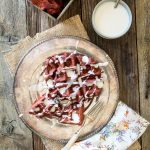 Sugar-Free Red Velvet Waffles with Cream Cheese Icing