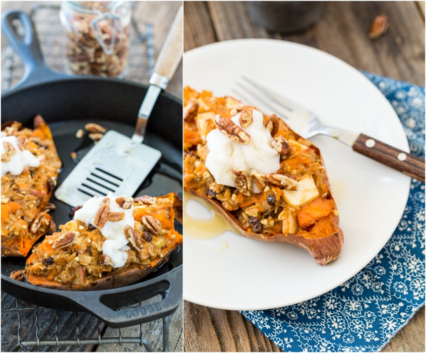 Stuffed Baked Sweet Potatoes With Pecans Recipe — Dishmaps