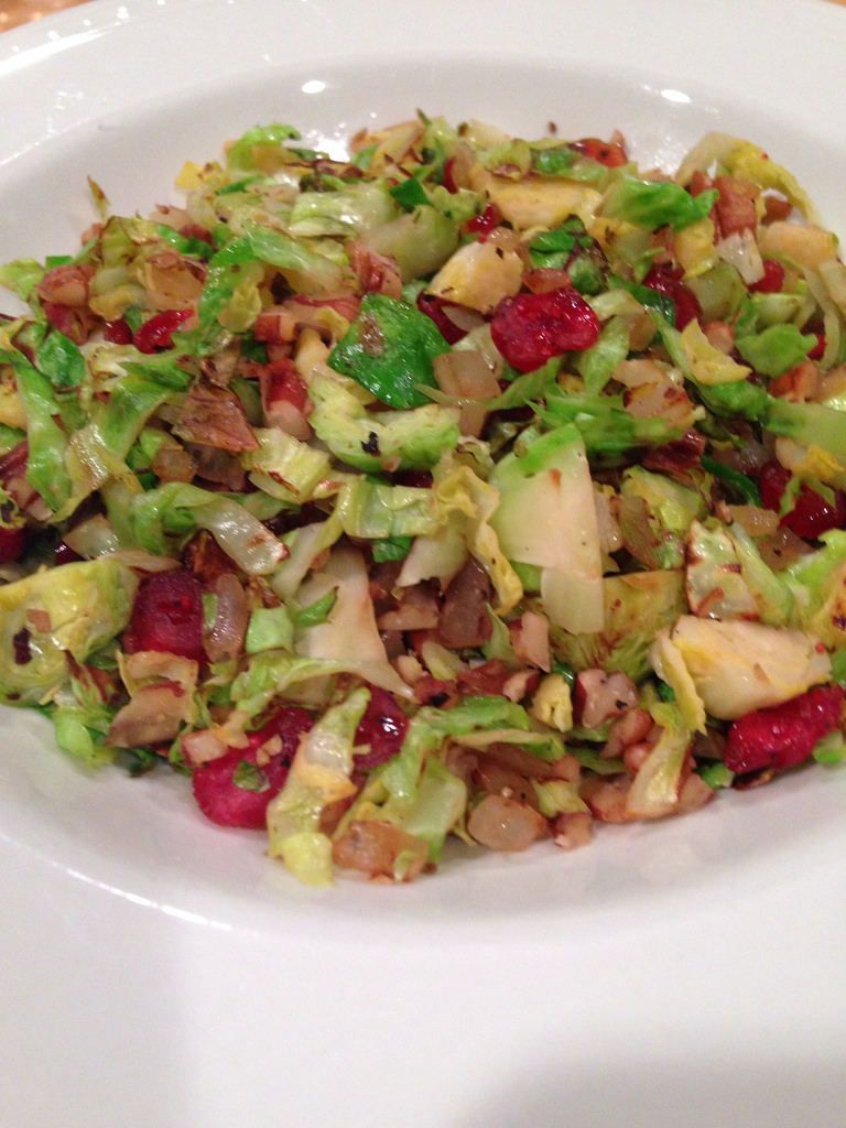Brussels Sprouts with Pecans & Cranberries