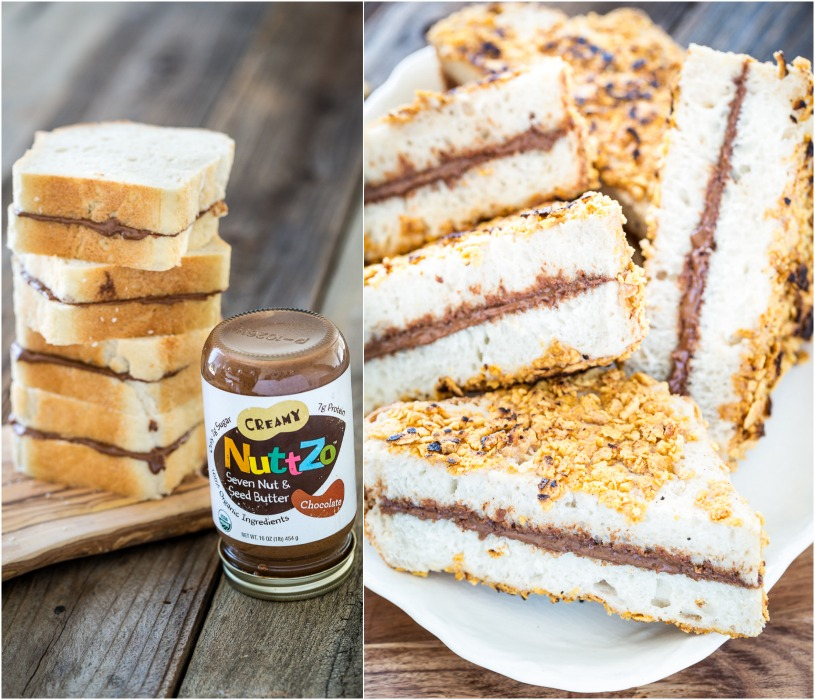 Crispy Chocolate Peanut Butter Stuffed French Toast