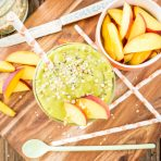 Energizing Peach Green Tea Smoothie