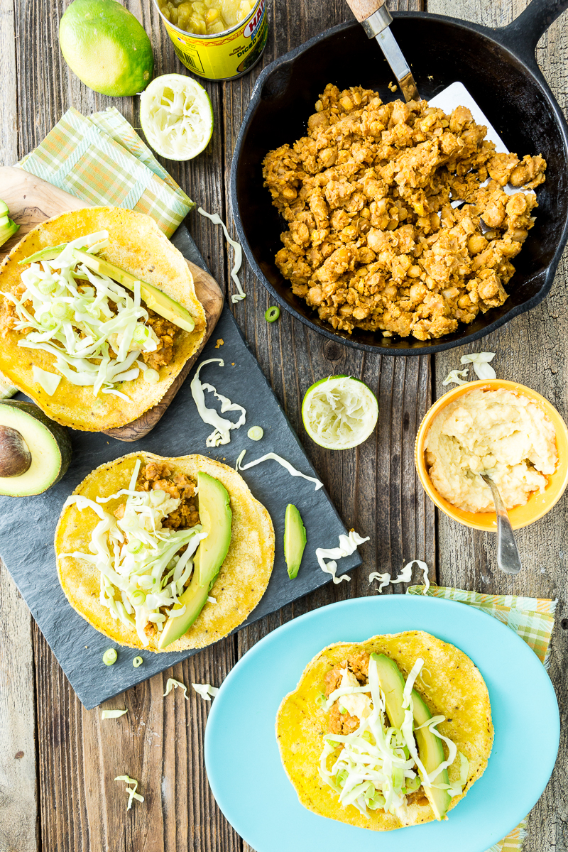 20-Minute Bean And Cheese Tacos with 2-Ingredient Vegan Cheese