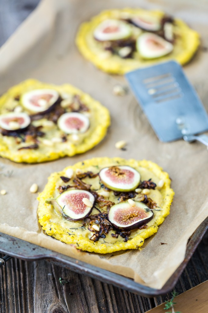 Polenta Pizzas Recipe — Dishmaps