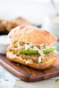 Filet O' Chickpea Sandwich with Tartar Sauce Slaw