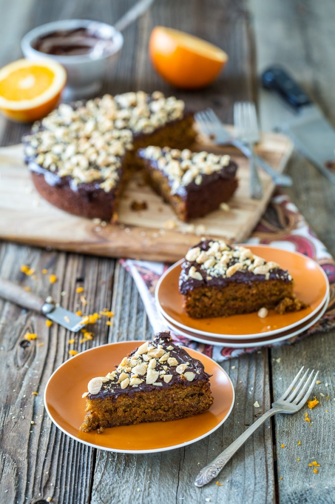 Chocolate, Orange, and Almond Olive Oil Cake