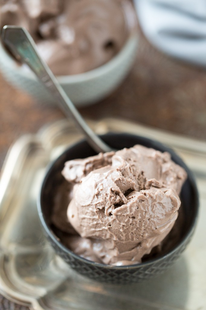 """Mississippi Mud"" Chocolate Frozen Yogurt"