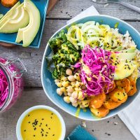 The Macro Bowl with Turmeric-Tahini Dressing