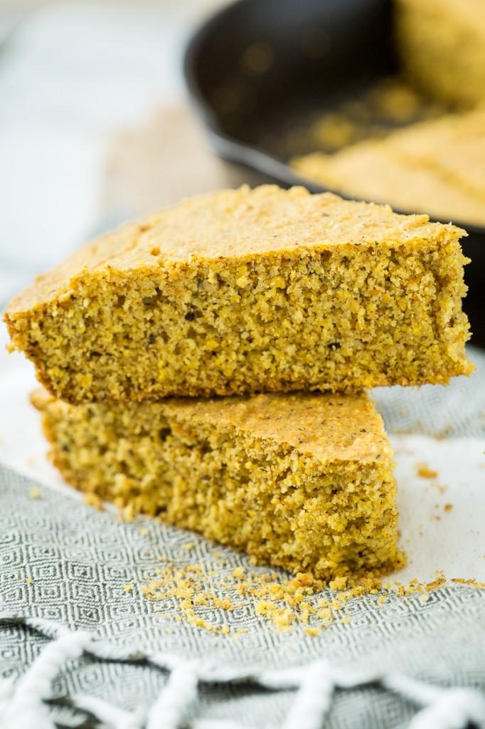 Vegan, Gluten-Free Skillet Cornbread