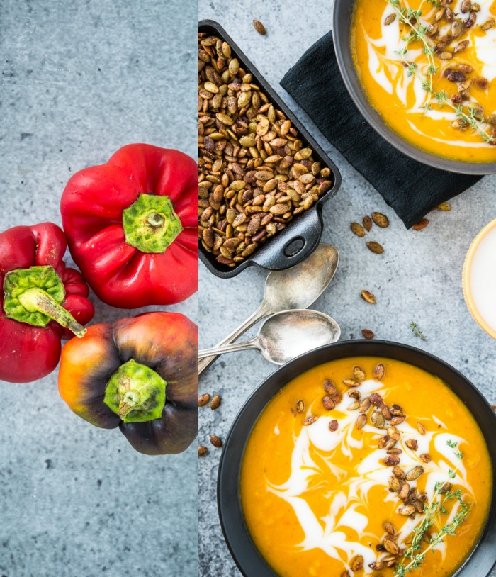 Harissa-Roasted Butternut Squash Soup with Spicy Toasted ...