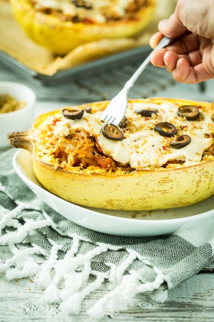 Pizza-Stuffed Spaghetti Squash