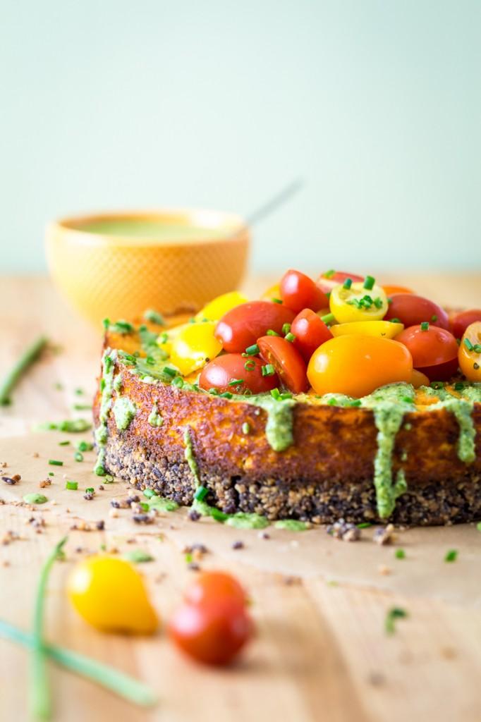 Savory Roasted Corn Cheesecake-1