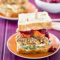 Vegan, Gluten-Free Thanksgiving Leftovers Sandwich