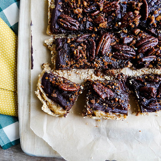 Heather's Coconut Pecan Chocolate Caramel Squares