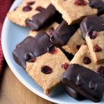Emma's Chocolate Dipped Lemon & Cranberry Shortbread Cookies