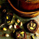 Angela's No-Bake Maca Chia Chews with Pistachio Maple Glaze