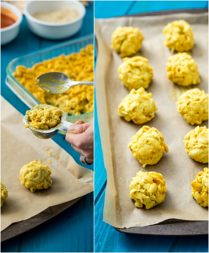 Gluten-Free, Vegan Buffalo Mac n' Cheese Balls