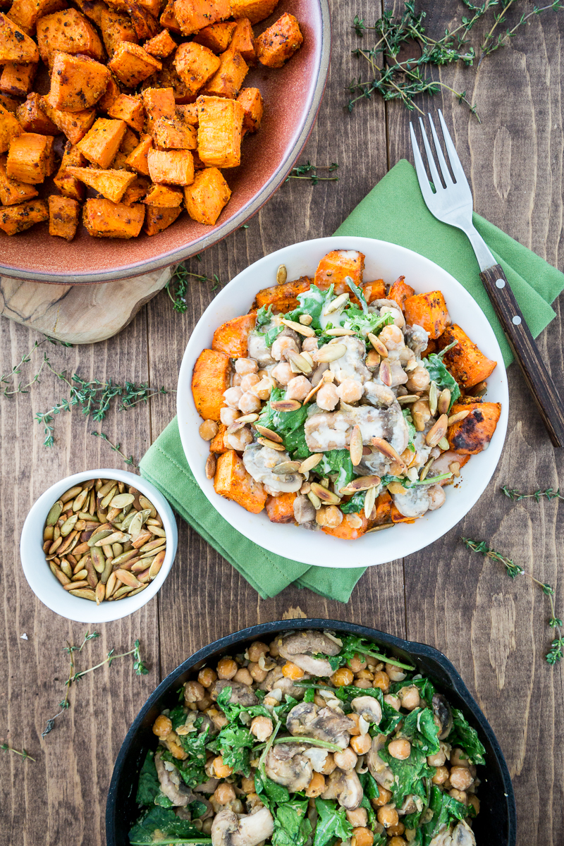 Cheesy Sweet Potato  Chickpea Bowl Keepin It Kind