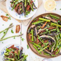 Portobello and Asparagus Salad with Sun-Dried Tomatoes