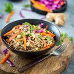 Spicy Peanut Soba Noodles with Veggies from Healthy Happy Vegan Kitchen + A GIVEAWAY!