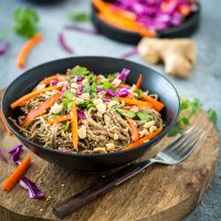 Spicy Peanut Soba Noodles with Veggies from Healthy Happy Vegan Kitchen + A GIVEAWAY