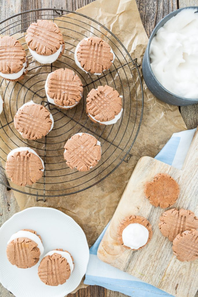 Vegan, Gluten-free Fluffernutter Cookies