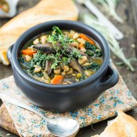 White Bean & Portobello Stew
