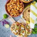 Chipotle Cauliflower Carnitas Tacos with Green Apple Salsa
