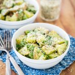 Roasted Garlic Basil Pesto Potatoes with Arugula from Oh She Glows Everyday + A GIVEAWAY!!!