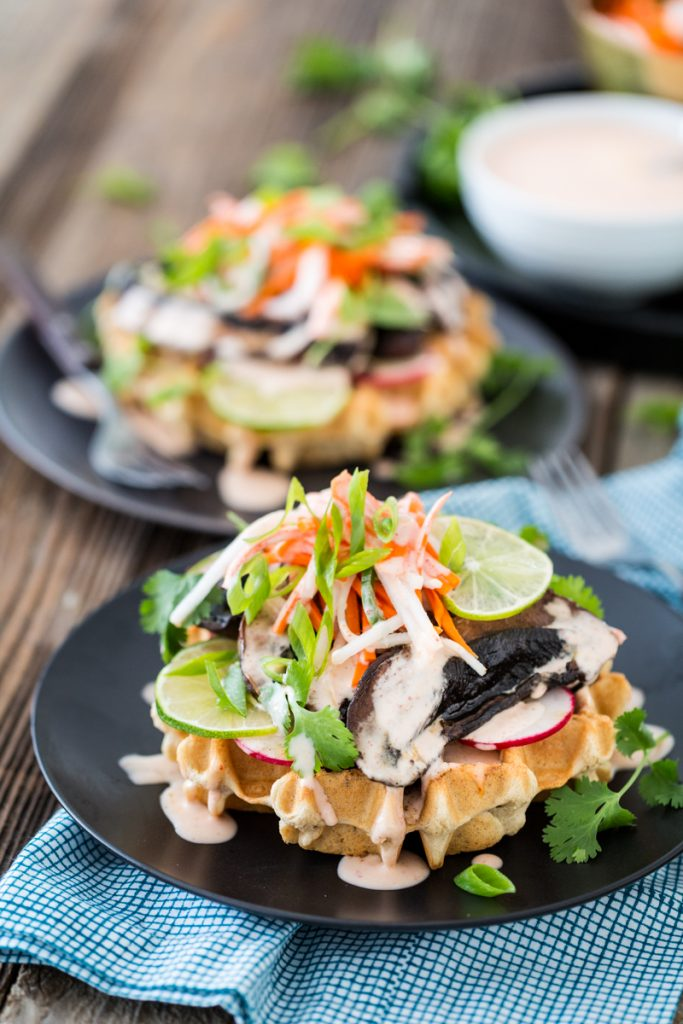 Portobello Bánh Mì Waffles