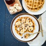 Crisp Miso-Tahini Waffles, Two Ways
