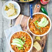 Harrisa Sweet Potato & Lentil Chili