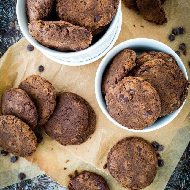 Pumpkin Double Chocolate Chip Cookies