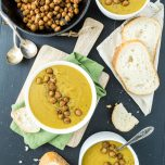 Creamy Potato Split Pea Soup