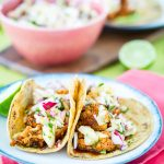BBQ Cauliflower Tacos with Pineapple Radish Salsa