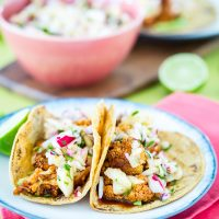 BBQ Cauliflower Tacos with Pineapple Radish Salsa