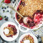 Lemon-Thyme Berry Crisp