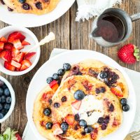 Double Berry Corncakes